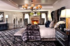 FAUX FUR DECOR BEDROOM | to have a faux fur throw on the bed to match your pet so their fur ...