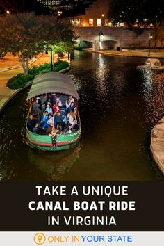 Take a unique canal boat ride in Virginia! This guided tour will teach you local history while highlighting area sights and attractions. It's wheelchair accessible, kid-friendly and great for a family day trip. Places To Travel, Places To See, Travel Destinations, Vacation Ideas, Vacation Spots, Best Bucket List, Hidden Beach, Canal Boat, Down South