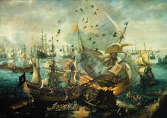 Battle of Lepanto -1571; The Church stood against Islamic invaders who sought to subjugate all of Europe under the Crescent Moon and Star. They found out the Cross was mightier by far!