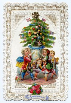 §§§ . 19th century Christmas Card