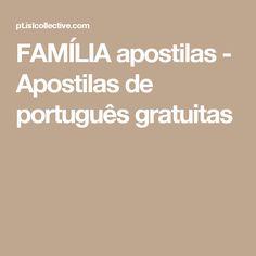 FAMÍLIA apostilas - Apostilas de português gratuitas