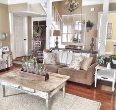 Rustic and farmhouse livingroom