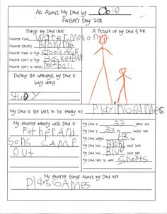 The Copycat Crafter: Father's Day Questionnaire