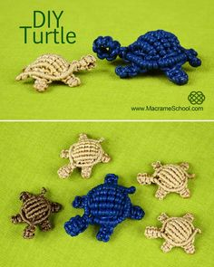 How to Make a Macrame Turtle - http://youtu.be/BQqAUJ-qzso