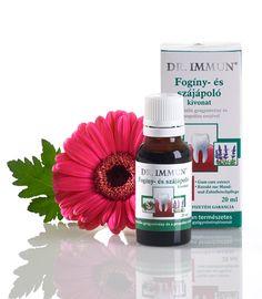 DR. IMMUN Fogíny- és szájápoló kivonat 8 gyógynövény és a propolisz erejével 20 Ml, Perfume Bottles, Soap, Perfume Bottle, Bar Soap, Soaps