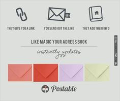 gather every address you need all at once with Postable. i am SO personally going to use this! | VIA #WEDDINGPINS.NET