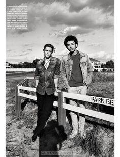 Justice Smith, Selah Marley y Brenton Thwaites para L'Uomo Vogue