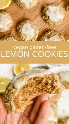 Gluten Free Desserts, Dairy Free Recipes, Healthy Desserts, Vegan Gluten Free, Vegan Recipes, Lemon Cupcakes, Lemon Cookies, Sugar Cookies, Healthy Baking