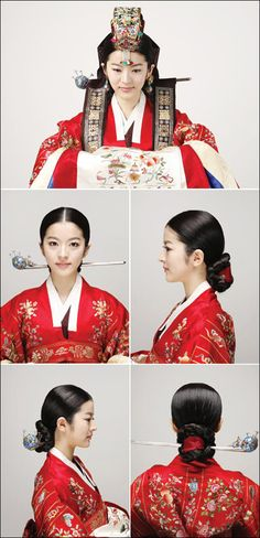 Traditional hairdos for Korean women