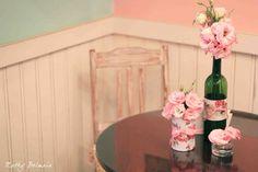 Decoração de festa com potes de vidro e garrafas   Jéssika Barbieri   Cerimonial e Eventos