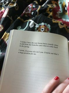 """Clementine von Radics. """"I wrote, Everyone else isn't you. It turns out that's a huge problem for me."""""""