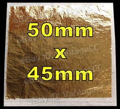 50mm x 45mm 99% Pure 23.5k 23.5ct Gold Leaf Edible Sheets Baking Crafts Framing in Crafts, Cake Decorating | eBay