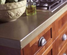 Innovative cement countertop Traditional Kitchen