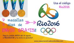 #CopaMenstrual 7medallas 7 dias de ENVIO GRATIS – Código Rio2016