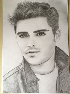 zac efron drawing drawings portrait salvo