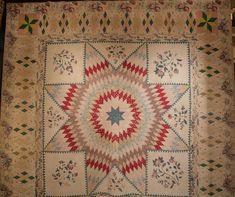 Mathematical star quilt, 1830s