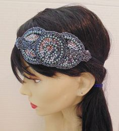 Art Deco Headband 20's Headband Pewter by BellaCescaBoutique, $29.50