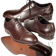 Cesare Paciotti Italian Mens Shoes Brown Leather Dress