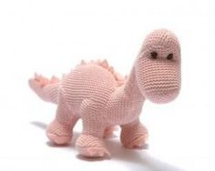 Organic Knitted Diplodocus in PinkYou can't find a dinosaur cuter than this organic knitted diplodocus! With a soft sounding rattle inside it makes for a perfect first toy. This Diplodocus is suitable from birth and machine washable. Baby Dinosaurs, Dinosaur Toys, Unique Baby Gifts, New Baby Gifts, Baby Sensory Toys, Rose Pastel, Newborn Baby Gifts, Baby Rattle, Toddler Toys