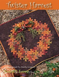 Twister Harvest Quilt Kit designed by Becky Cogan for Need'l Love using the Primitive Gatherings tools.