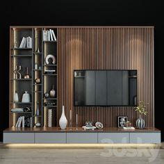3d models: TV Wall - TV shelf 0191 Modern Tv Room, Modern Tv Wall Units, Living Room Modern, Tv Cabinet Wall Design, Tv Wall Design, Living Room Wall Units, Living Room Tv Unit Designs, Tv Wall Unit Designs, Tv Wall Decor