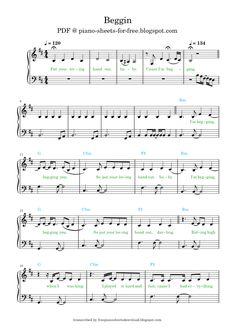 Easy Piano Sheet Music, Free Sheet Music, Notes, Sheet Music, Free Piano Sheet Music, Report Cards, Notebook