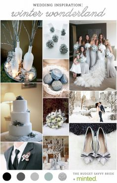 winter wedding inspiration - silver sparkle wedding inspiration