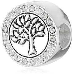 CHARMED BEADS Sterling Silver Family Tree of Life Crystal Bead Charm *** Check this awesome image @ http://www.amazon.com/gp/product/B0183VVVHI/?tag=ilikeboutique09-20&uv=080816042541
