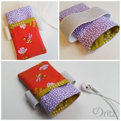 Sewing Tutorial: Make an arm-band phone pouch. Uses Dritz soft waistband elastic for a comfortable band.