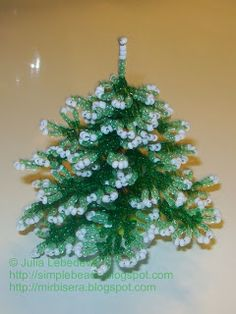 Tutorial - Beading for the very beginners: Christmas Tree