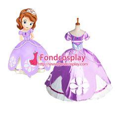Free Shipping Disney Junior-Sofia the First -Princess dress cosplay Costume…