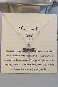 DragonflyNeckalceSilver DragonflySilver by byGraceandWisdom, $30.00
