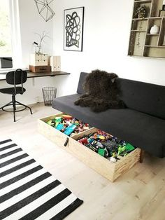 Diy Storage, Diy Organization, Diy Interior, Kidsroom, Daybed, Sofa, Toddler Bed, Kids Rugs, Diy Crafts