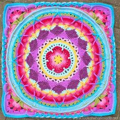 Blocking 30 Squaring Up Sophies Mandala 2  Cygnus Square  {Photo Tutorial}