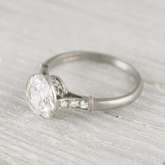 NOW WERE TALKIN,  CLOSER TO MY DREAM....2.02 Carat Vintage Art Deco Engagement Ring   Erstwhile Jewelry Co.