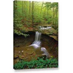 Antonio Raggio 'Water Falls' Gallery-Wrapped Canvas, Size: 12 x 18, Brown
