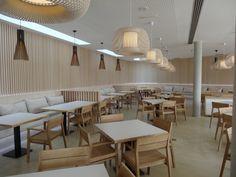 Carlos Morales Arquitectos interior design for Restaurant El Lago at CLUB LA SANTA. lanzarote