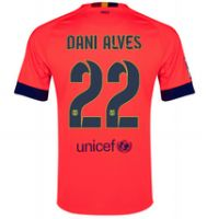 FC Barcelona 2014-15 season Dani Alves #22 Away Pink Jersey