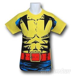 Wolverine Retro T-Shirt -  Muscle Costume