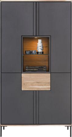 Lanai, bergkast hoog 100 cm - 4-deuren + 1-lade + 2-niches (+ led)