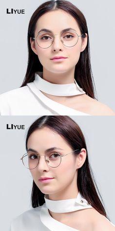 f29fbc82e3c1b Round Vintage Eyeglasses Frame Women Men Optical Eye Glasses Spectacle Frame  For Women s Clear Lens Female Glasses Frame