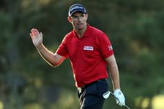 AUGUSTA, GA - APRIL 12:  Padraig Harrington of Ireland reacts after a shot on the 17th hole during the second round of the 2013 Masters Tournament at Augusta National Golf Club on April 12, 2013 in Augusta, Georgia.