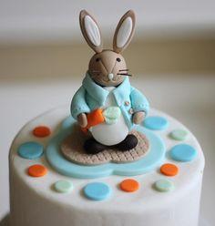 Fondant Cake Topper - Whimsical 3D Rabbit Cake Topper Fondant Figure - Matches Our Cupcake Toppers by Les Pop Sweets on Gourmly
