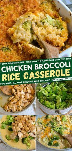 Broccoli Cheese Rice Casserole, Chicken Broccoli Cheese, Steamed Broccoli, Easy Chicken Rice Casserole, Broccoli Recipes, Salad Recipes, Chicken Recipes, Creamy Chicken And Rice, Casserole Recipes