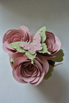 Spiral Flower die, Bitty Butterfly punch, Elegant Butterfly punch Stampin Up by Cards and Scrapping