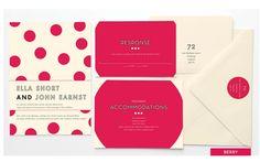 Bright magenta polka dots! Vendor: Anticipate Invitations Pin from DreamWeddingsPA.com