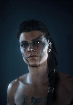 Arte Assassins Creed, Assassins Creed Odyssey, Elf Characters, Cosplay Characters, Viking Face Paint, Hottest Video Game Characters, Dynasty Warriors, Assassin's Creed, War Paint
