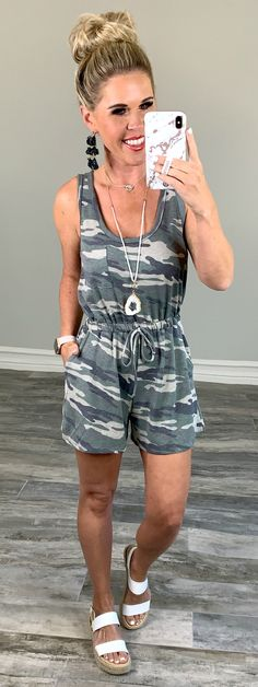 Command Attention Camo Romper - privityboutique    #streetstyle #cozy #casualstyle #ootdfashion #style #ootd #summerfashion #flannel #blogger #travel #vacationstyle #fashionlover #fashionblogger #summerstyle #boutiquefashion #womensfashionoutfit #summeroutfit #dress #layeringdress #casualstyle #casualfashion #joggers #comfyoutfit #kimono #swimwear #homefashion #summervibes #womensfashion #onlineshopping #onlineboutique Ootd Fashion, Fashion Boutique, Womens Fashion, Maxi Romper, Playsuit, Vacation Style, Camo Print, Affordable Fashion, Jumpsuits