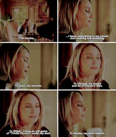 #TheOriginals #3x19 - Will you make sure that she gives them to Hope when she's old enough? Hope's a New Orleans witch. She should have them.