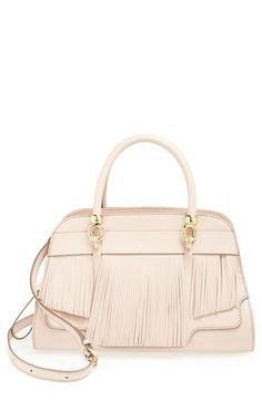 Handbag inspiration - Tod's 'Sella' Fringe Leather Satchel available at #Nordstrom